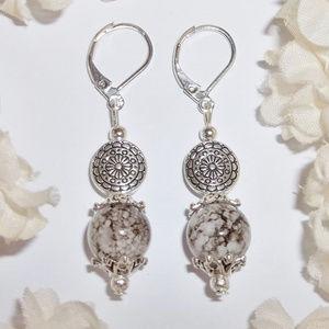 Earrings Beaded Dangle Drop Set Pair Glass 4546